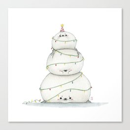 A very sealy Christmas tree Canvas Print