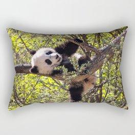 Cute baby panda bear Rectangular Pillow