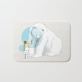 Polar bear and Girl Bath Mat