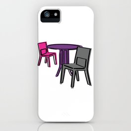 Table & Chairs 01 iPhone Case