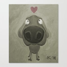 Weimaraner Love - Grey Canvas Print