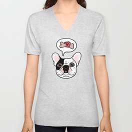 Time to treat the cute Frenchie Unisex V-Neck