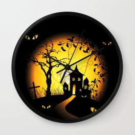 Halloween Castle Nightmare Wall Clock