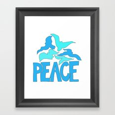 Peace in blue and green Framed Art Print