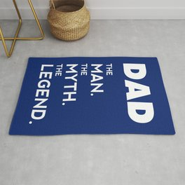 DAD, The Man, The Myth, The Legend, Father t-shirt, blue version Rug
