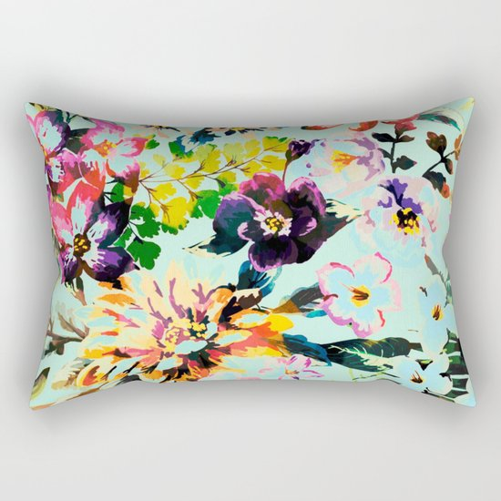 flowers in the wind Rectangular Pillow