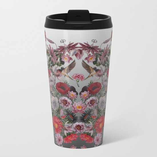 Flowers and Animals Metal Travel Mug