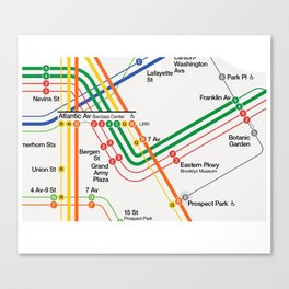New York City Subway Map Canvas Print