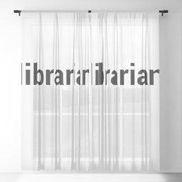 librarian Sheer Curtain