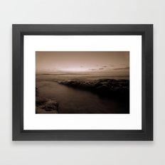 Pacific Sunset in B&W Framed Art Print