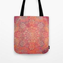 """""""Coral & Rosewood Mandala (pattern)"""" Tote Bag"""