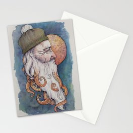 Octopus Man Stationery Cards