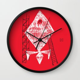 A Machine Designed To Fly In Outer Space Wall Clock