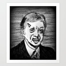 39. Zombie Jimmy Carter  Art Print