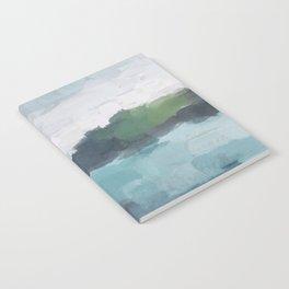 Aqua Blue Green Abstract Art Painting Notebook