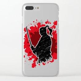 Samurai red Clear iPhone Case