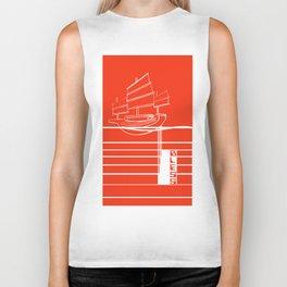 Poster Project | Bless Ship Orange Biker Tank