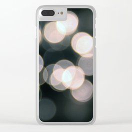 Blurry Nights Clear iPhone Case