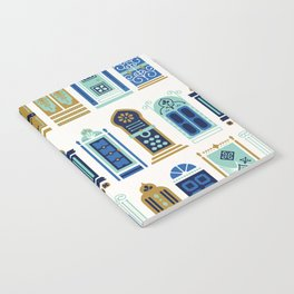 Moroccan Doors – Blue & Gold Palette Notebook