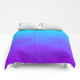 Blue and Purple Ombre - Swirly Comforters