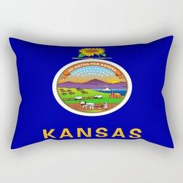 flag Kansas-america,usa,middlewest,Sunflower State, Kansan,Topeka,Wichita,Overland Park,Wheat State Rectangular Pillow