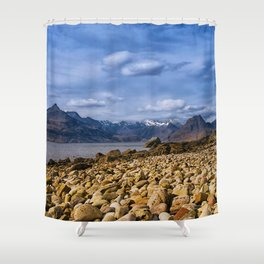 The Cuillin from Elgol, Isle of Skye Shower Curtain