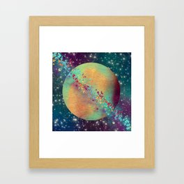 Color Planet Framed Art Print