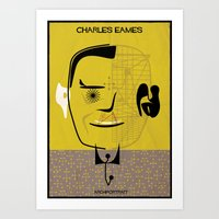 eames Art Prints featuring _Charles Eames by federico babina
