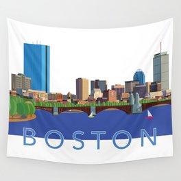 Back Bay Boston Skyline Wall Tapestry