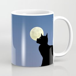 Moon and black cat Coffee Mug