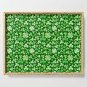 Lucky Green Watercolour Shamrock Pattern by tanyalegere