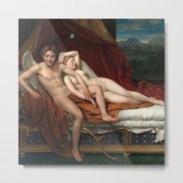"Jacques-Louis David ""Cupid and Psyche"" Metal Print"