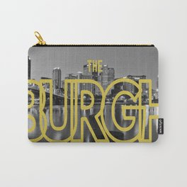 Pittsburgh Skyline Black White Carry-All Pouch