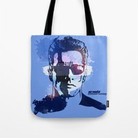 terminator Tote Bags featuring Terminator by BIG Colours