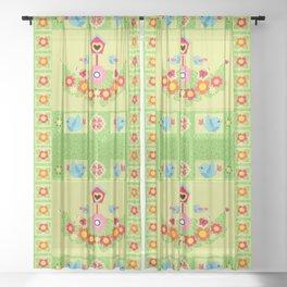 Vivid Garden Sheer Curtain