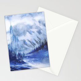 Snow Queen Heart of Ice book by KM Shea background only Stationery Cards