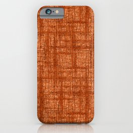 Textured Tweed - Rust Orange iPhone Case