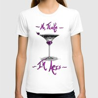asexual T-shirts featuring No, Thanks~ I'm Aces~ by Squidbiscuit