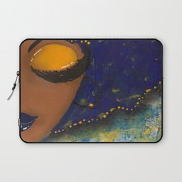 Blue and Gold Sassy Girl  Laptop Sleeve