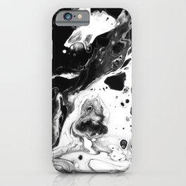 Monochrome Lava Flow iPhone Case