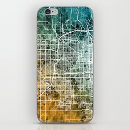 Omaha Nebraska City Map iPhone Skin