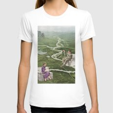 Preserve and Conserve White Womens Fitted Tee SMALL