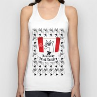kentucky Tank Tops featuring Kentucky Fried Unicorn by That's So Unicorny