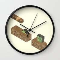 nintendo Wall Clocks featuring Nintendo #2 by Dabwood2