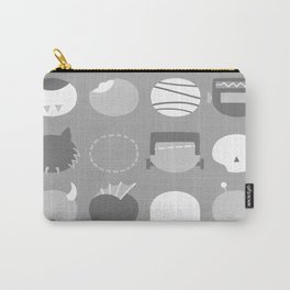Old School Minimalist Movie Monsters Carry-All Pouch