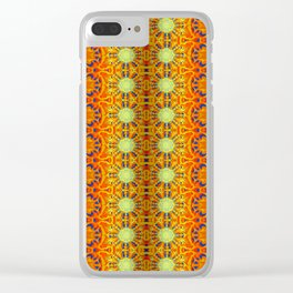 B Bloom Pattern Orange Clear iPhone Case