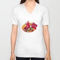 he man V-neck T-shirts featuring he-man by BzPortraits