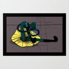 Un Grito de Dolor Art Print
