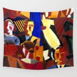 Gustave De Smet At the Cafe Wall Tapestry