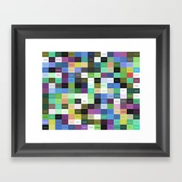 Colored life quotes Framed Art Print